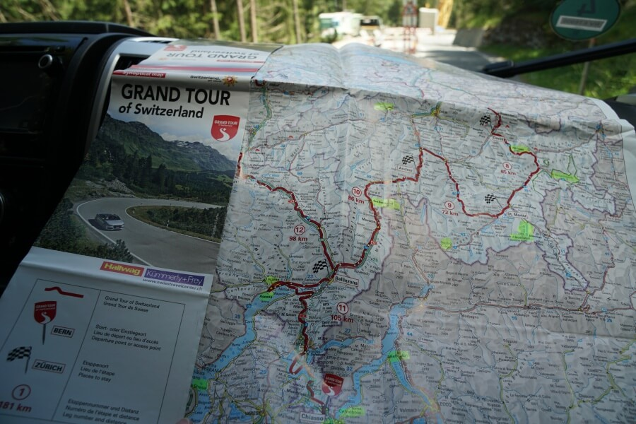 Route der Grand Tour of Switzerland durch die Schweiz