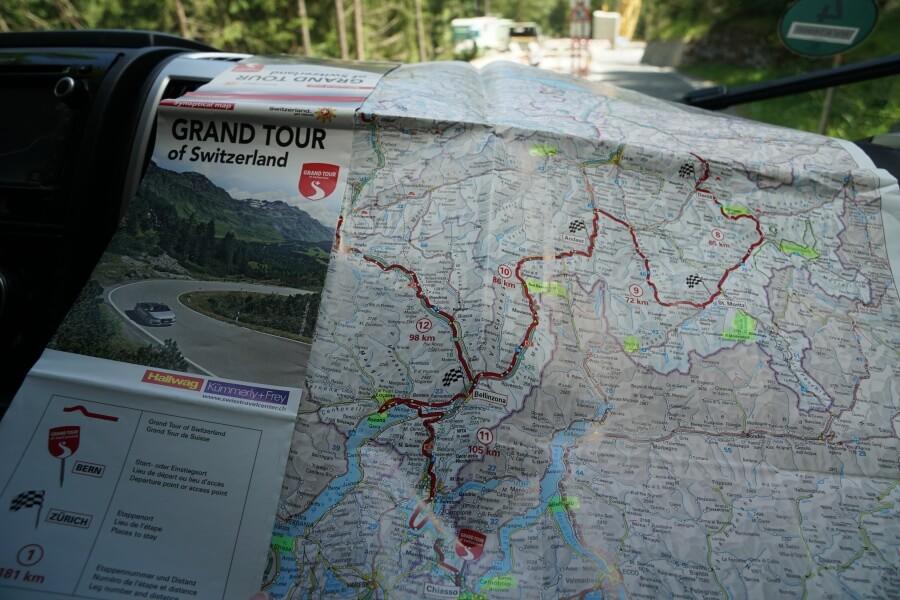 Route der Grand Tour of Switzerland durch die Schweiz