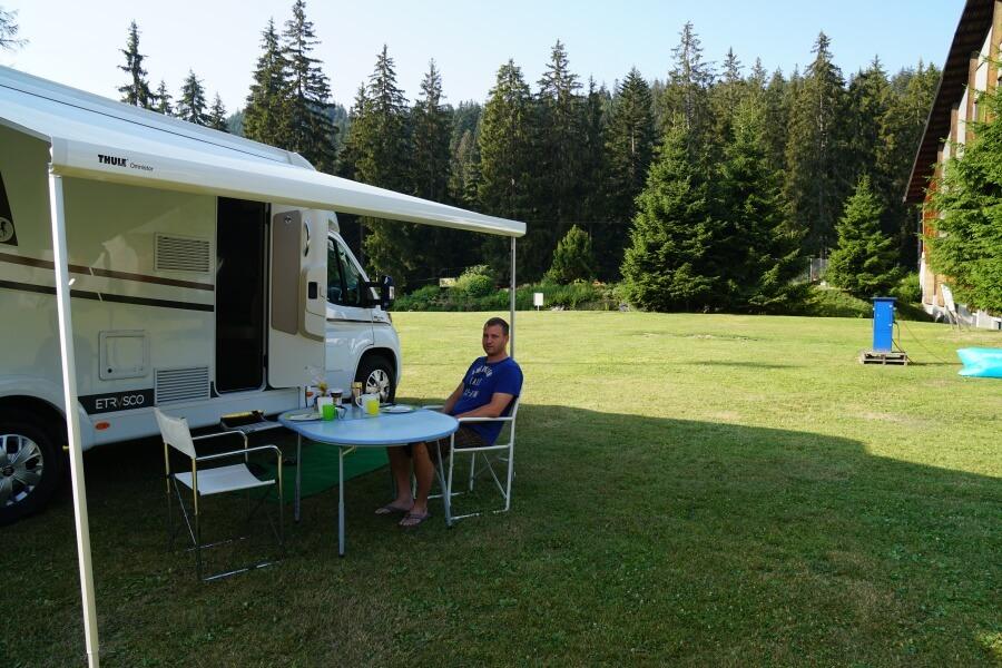 Campingplatz in Flims auf unserem Schweiz Roadtrip