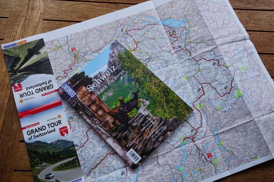 Karte Grand Tour of Switzerland