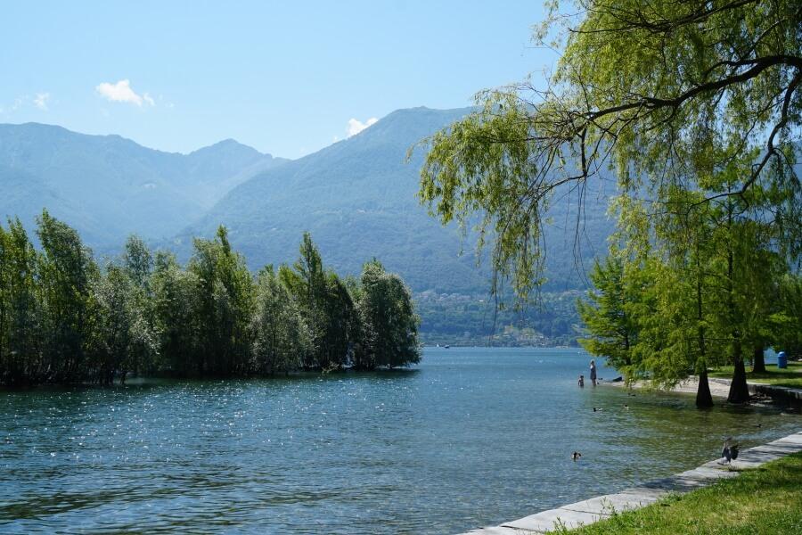 Morgenstimmung am Lago Maggiore in Locarno