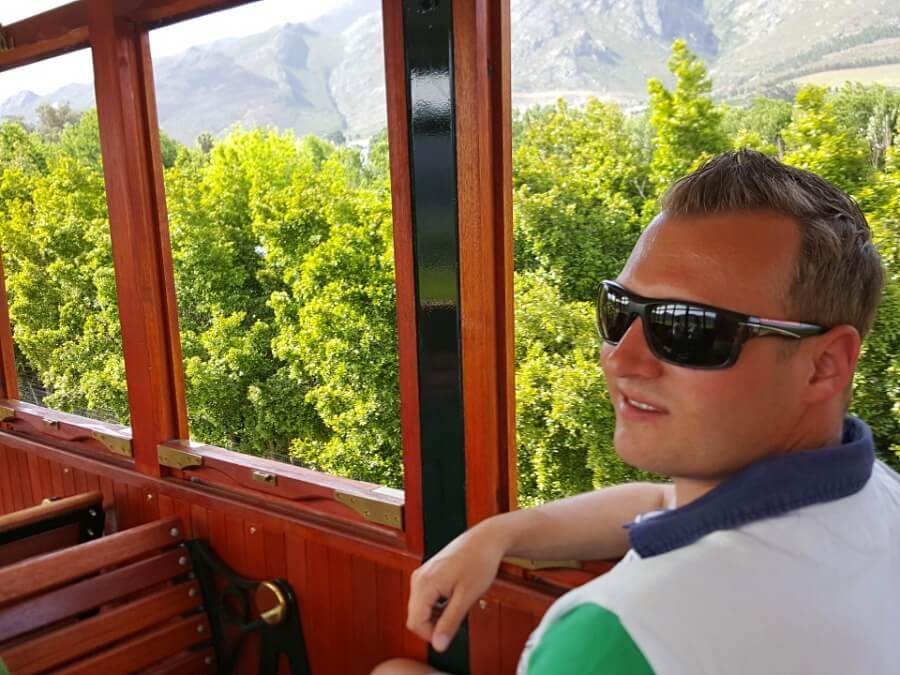 Unterwegs mit der Franschhoek Wine Tram im Weinland Suedafrikas