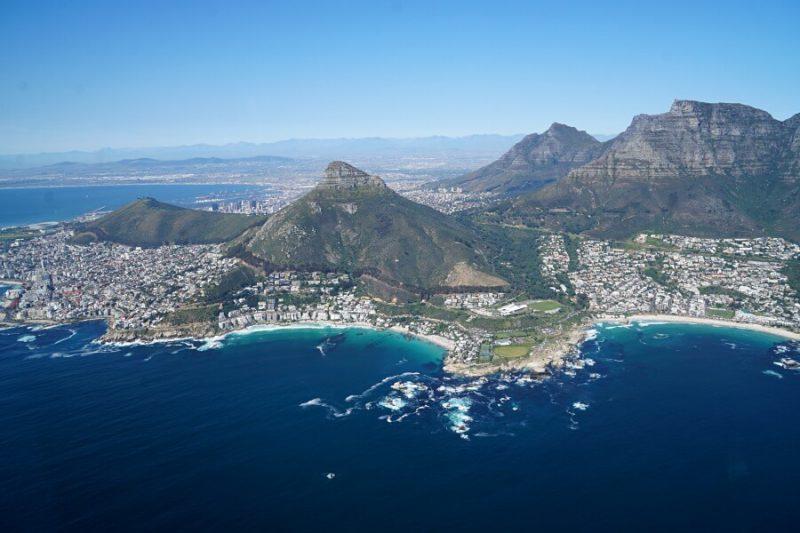Kapstadt von oben beim Helikopterflug - ein einmaliges Erlebnis