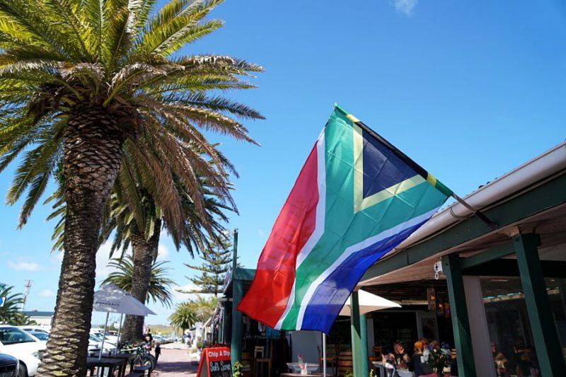 Der Ferienort Landebahn an der Atlantik Westkueste in Suedafrika