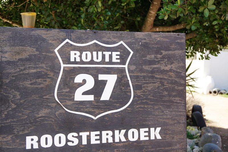 Die Route 27 an der Westkueste Suedafrika fuehrt von Kapstadt geradeaus nach Norden