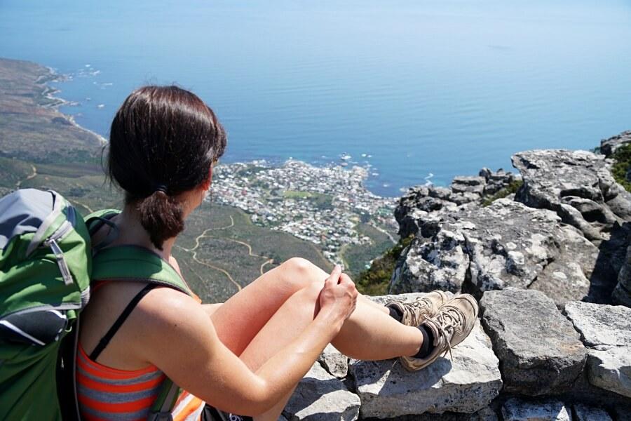 Ausblick geniessen nach unserer Wanderung auf den Tafelberg