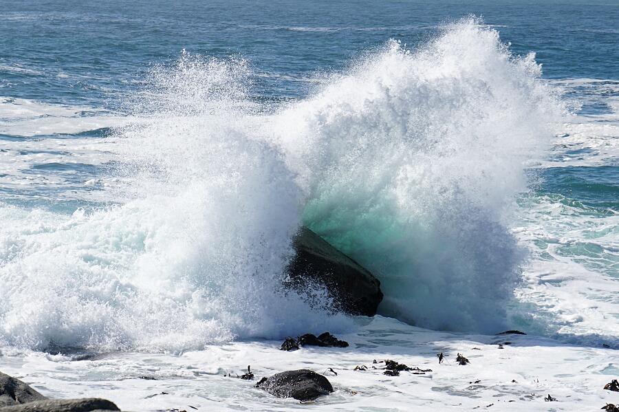 Wilder Atlantik und keine Chance Wale zu sehen