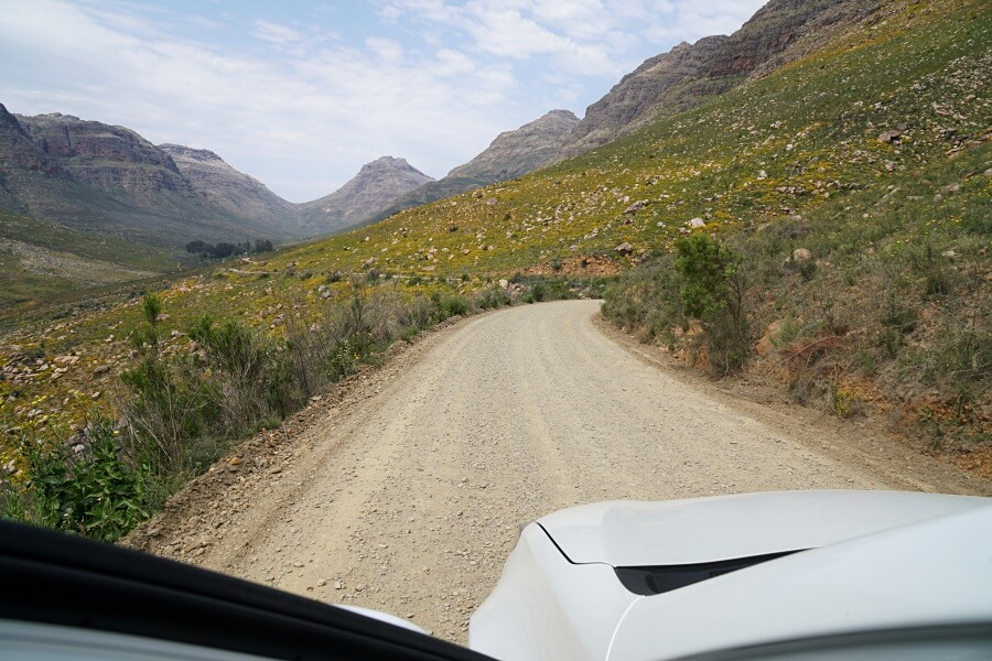 Auf Gravel Roads in die Cederberge in Suedafrika