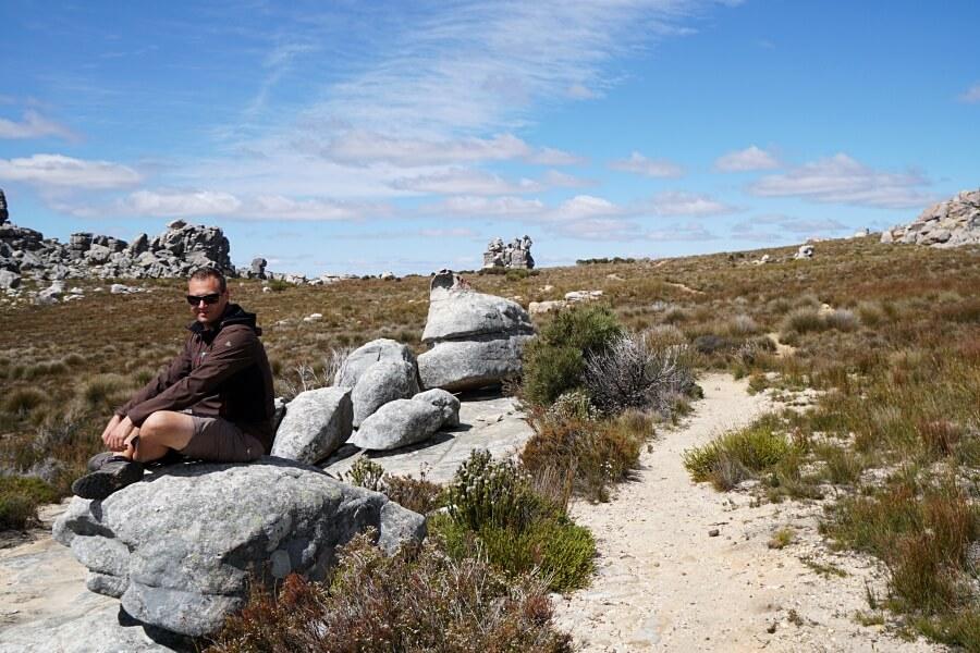 Wir genießen die absolute Stille am Maltese Cross in den Cederberg Mountains