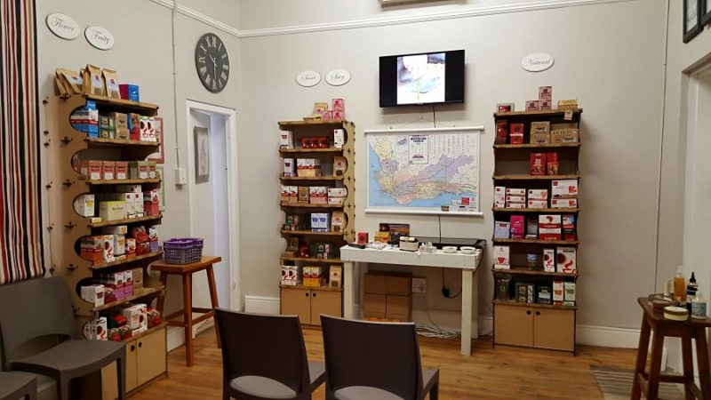 Im Rooibos Tea House in Clanwilliam