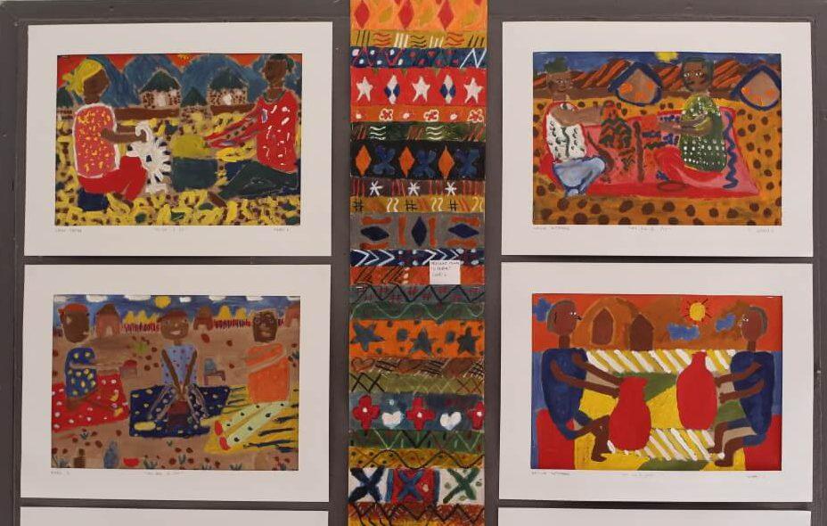 Kleine Kunstwerke im Kindergarten Kylemore in Suedafrika