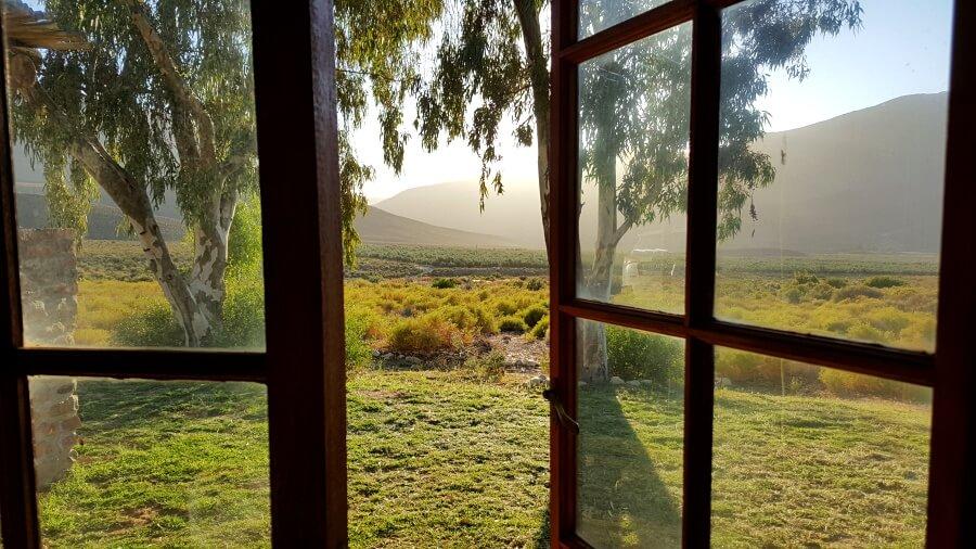 Morgendlicher Ausblick in der Mount Ceder Lodge in den Cederbergen