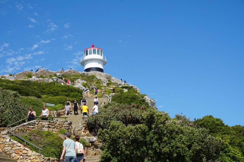 Trubelig geht's am Leuchtturm des Cape Point zu