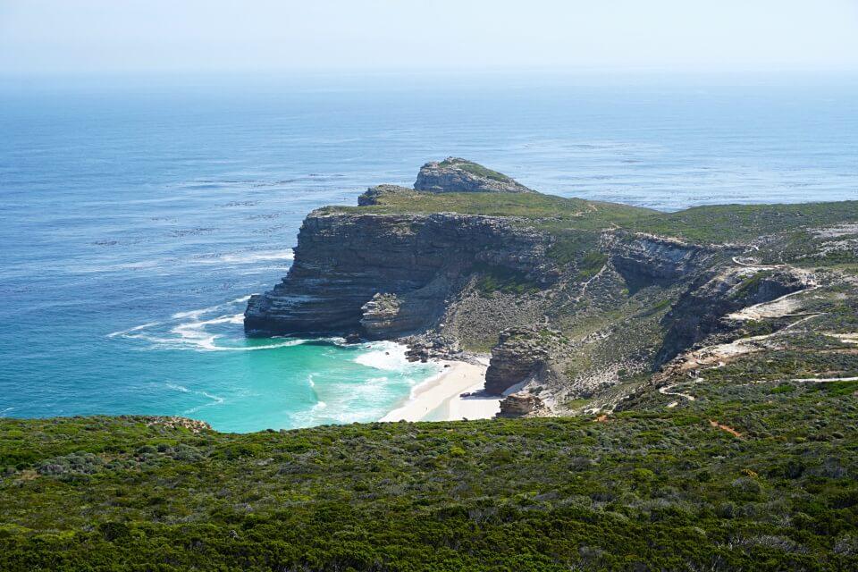Das Kap der Guten Hoffnung in Suedafrika mit Diaz Beach