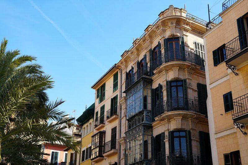 Jugendstil Fassade in Palma de Mallorca