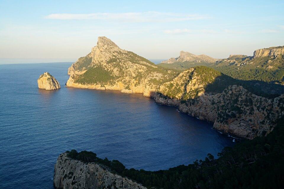 Blick auf das Cap de Formentor auf Mallorca