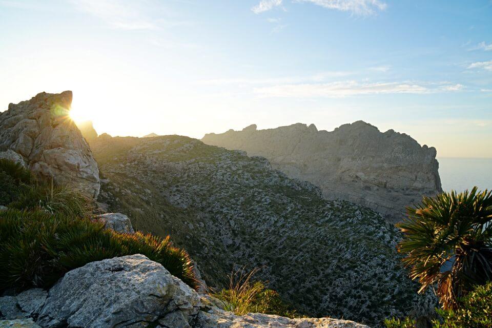 Sonnenuntergang am Cap de Formentor auf Mallorca