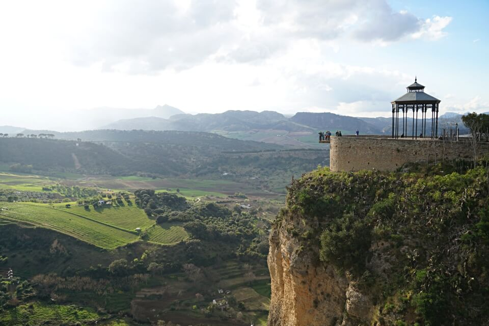 Ausblicke in Ronda in Andalusien