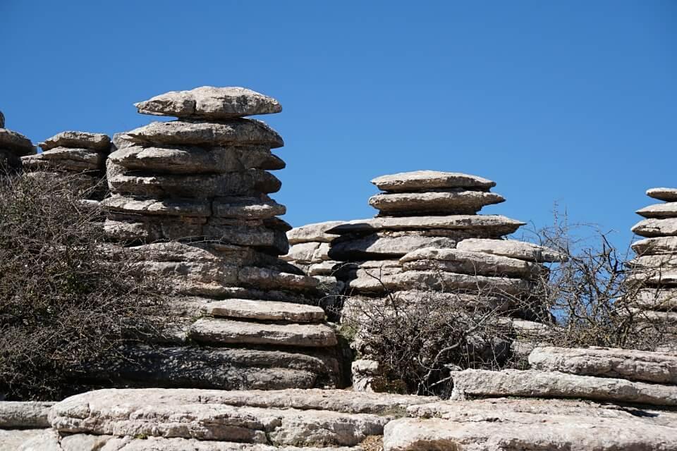Wandern im Naturpark EL Torcal de Antequera in Andalusien