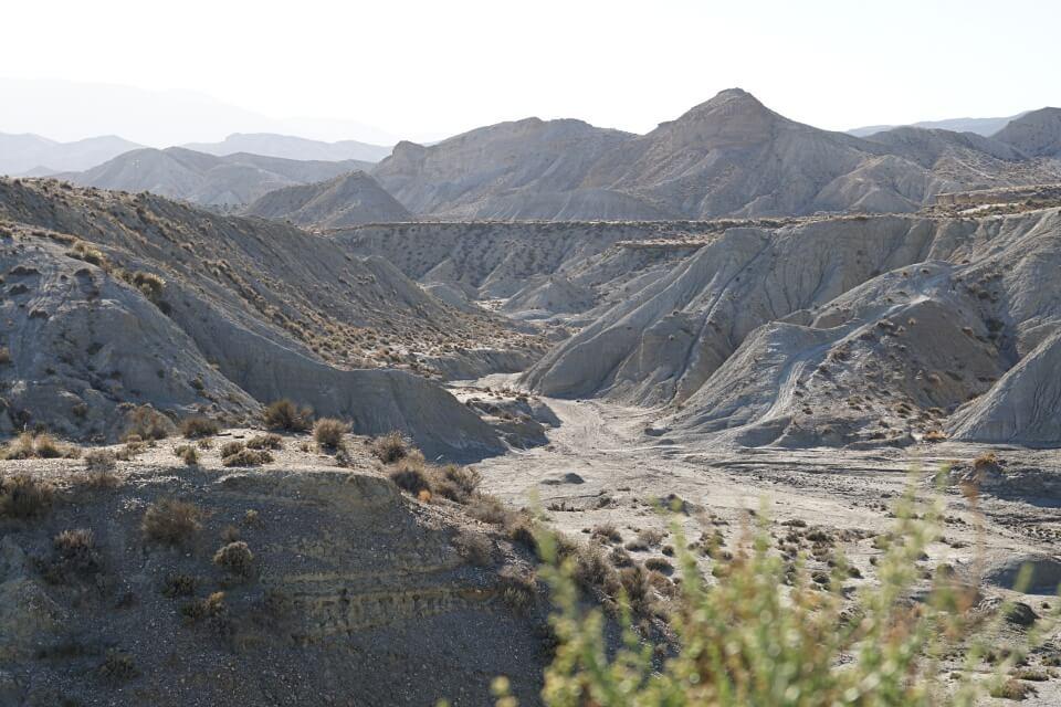 Die Desierto de Tabernas in Andalusien