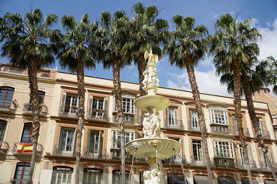Entspannte Altstadt von Malaga