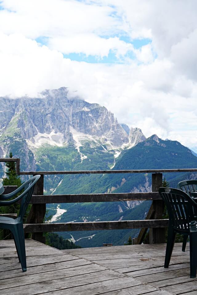 Ristorante mit Aussicht auf dem Monte Lussari in Italien
