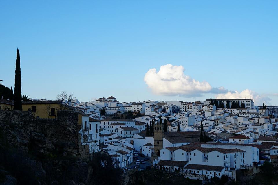 Ausblick auf die Neustadt El Mercadillo in Ronda