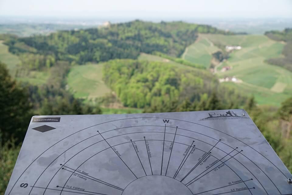 Ausblick auf den Schwarzwald vom Geigerskopf