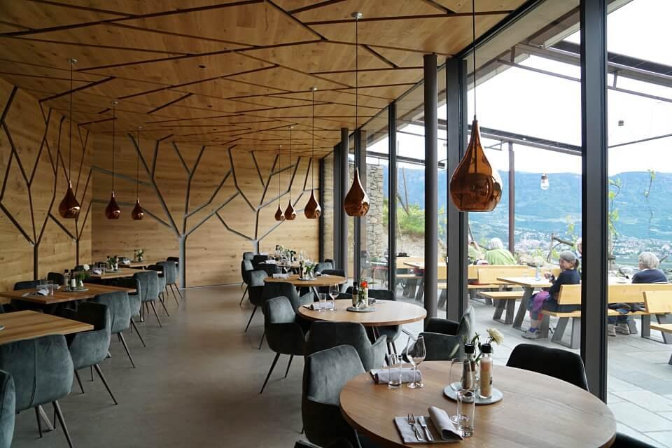 Stylische Gartenlaube im Restaurant Leiter am Waal