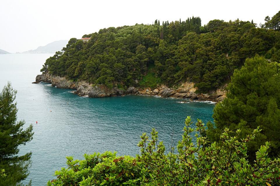 Der Golf von La Spezia in Ligurien