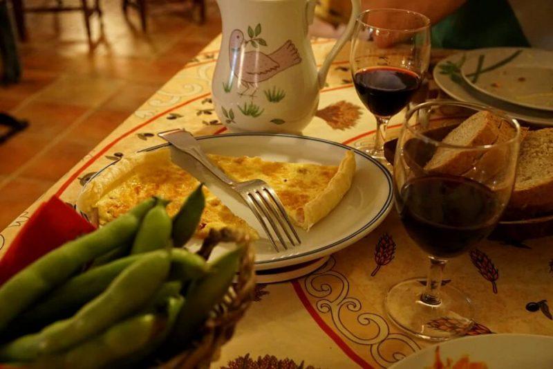 Abendessen im Agriturismo Ca Sottane in Borgomaro