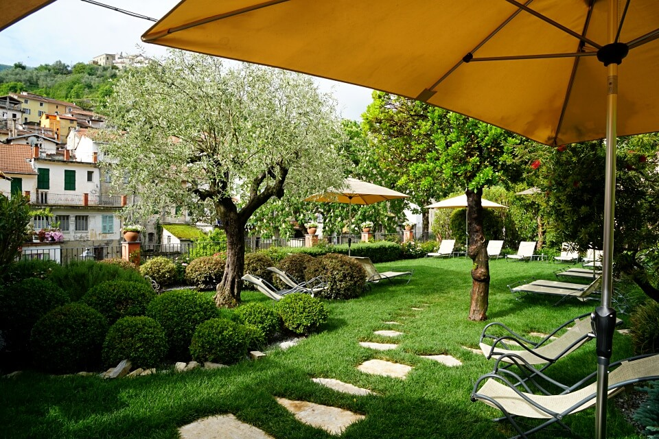 Garten des Relais del Maro in Ligurien