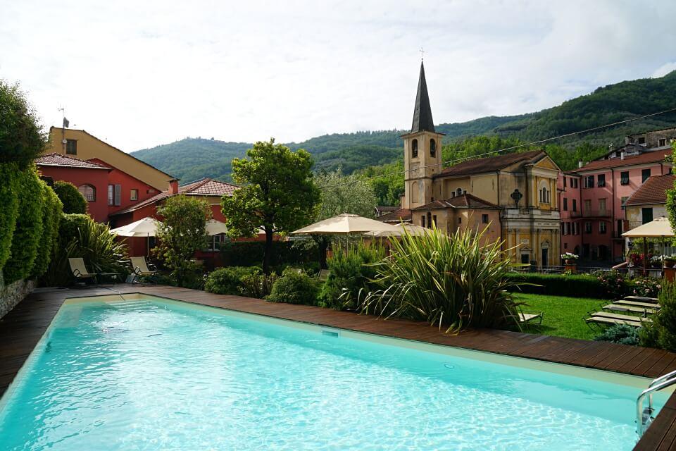 Das Relais del Maro in Borgomaro in Ligurien