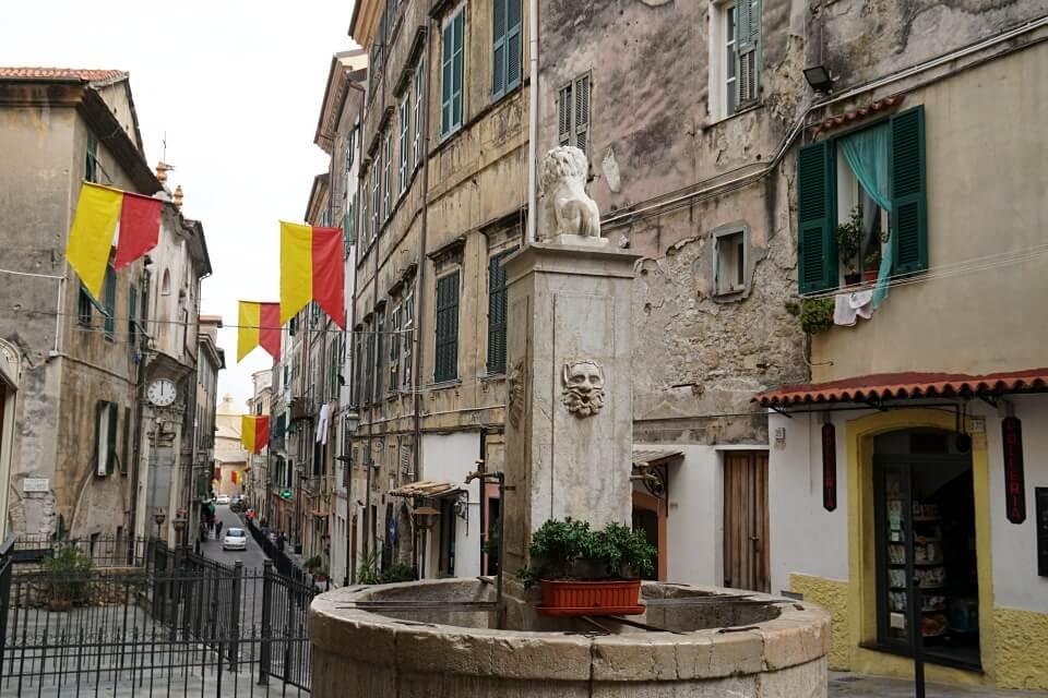 Ventimiglia an der Blumenriviera in Ligurien