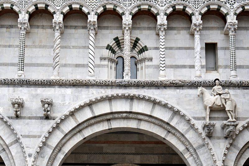 Details der Kathedrale San Martino in Lucca