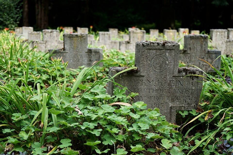 Gedenken an die Gefallenen des Ersten Weltkriegs auf dem Alten Friedhof Ludwigsburg