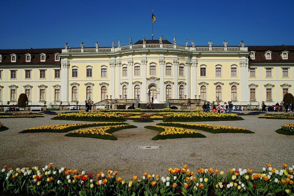 Das barocke Residenzschloss in Ludwigsburg
