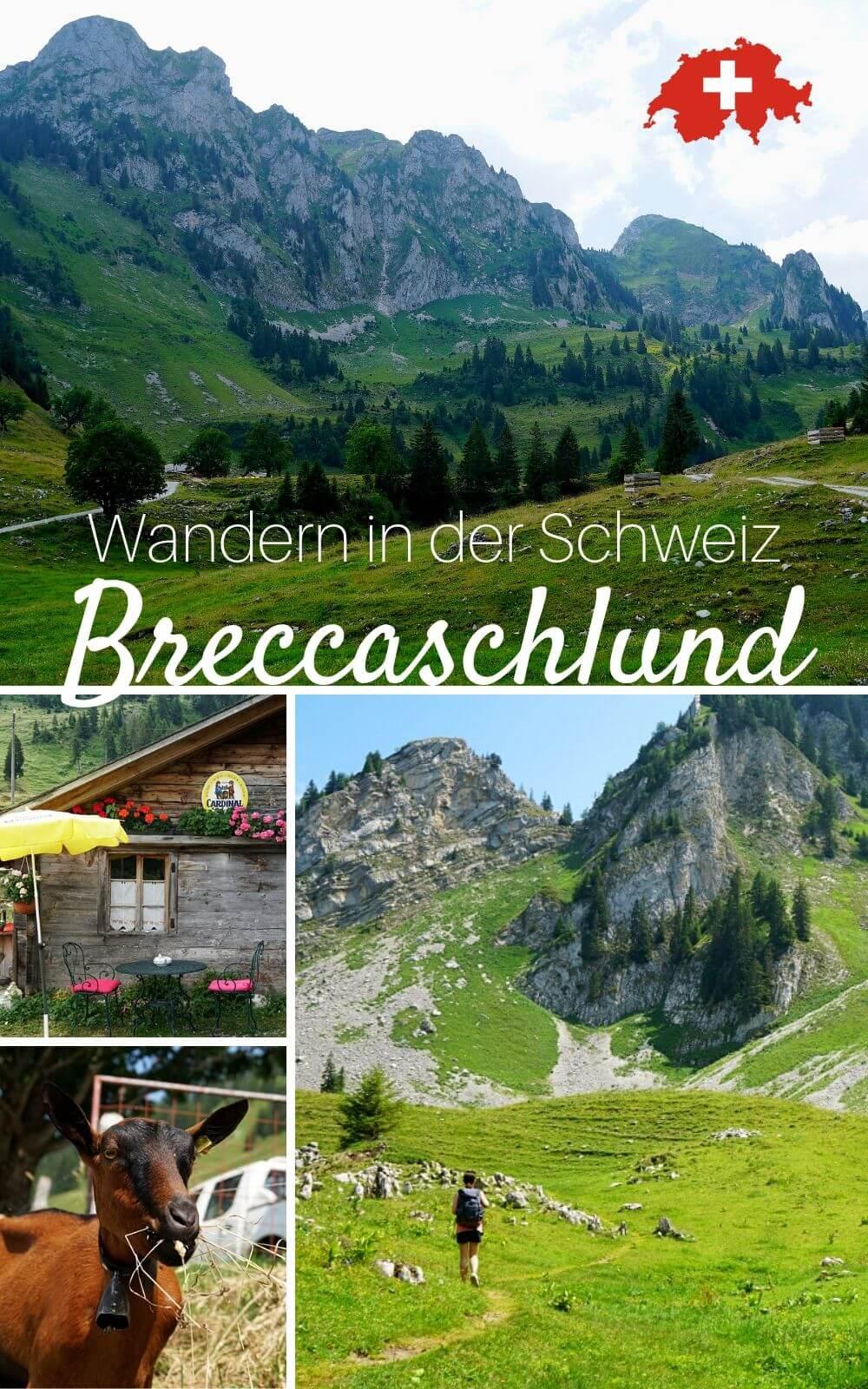 Unsere Wanderung durch die Urlandschaft Breccaschlund hoch ueber dem Schwarzsee in den Schweizer Voralpen
