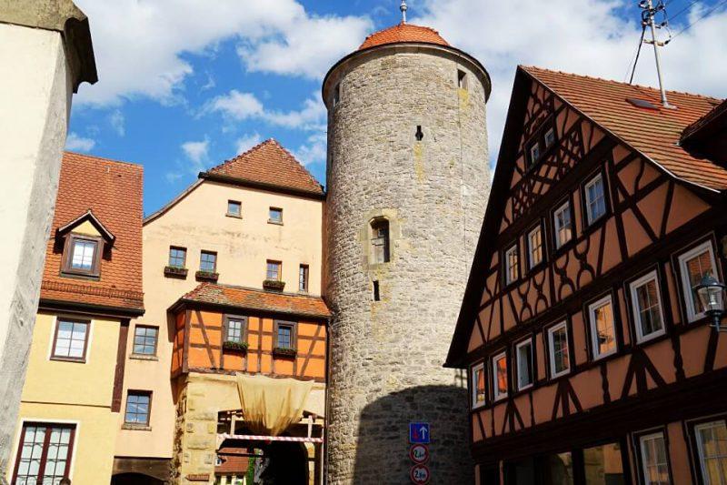 Fachwerk und Stadttor in Langenburg