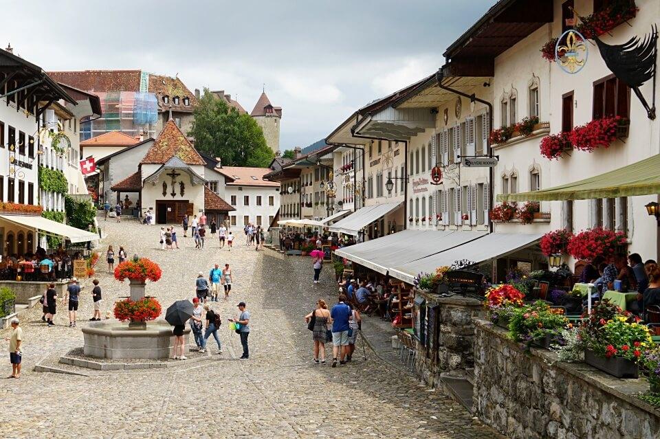 Die mittelalterliche Altstadt von Gruyeres