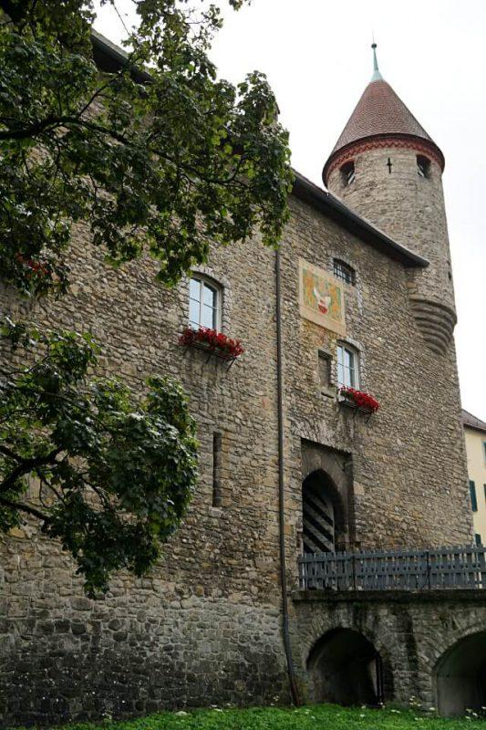 Das Schloss in Bulle im Kanton Freiburg