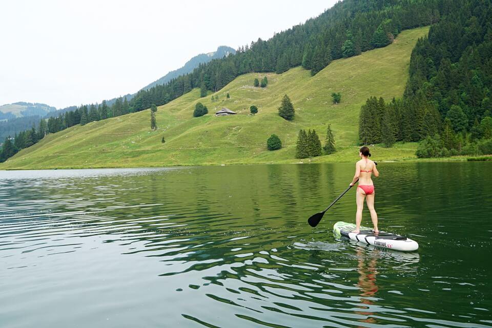 Mit dem SUP auf dem Schwarzsee
