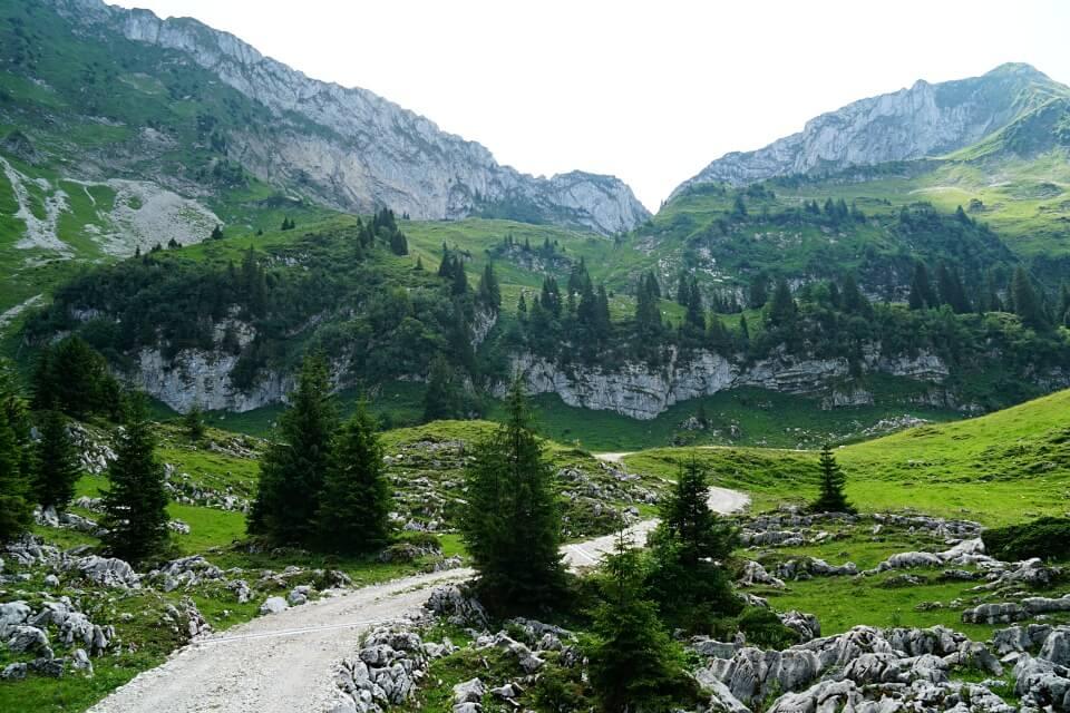 Die Karstlandschaft im Breccaschlund