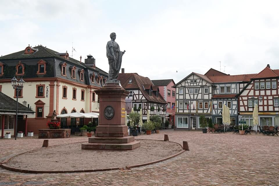 Der Marktplatz in Erbach