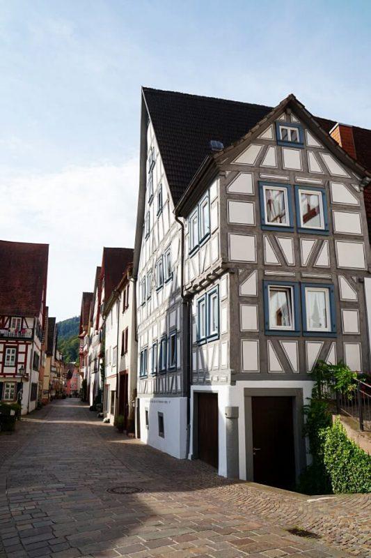 Fachwerk in Hirschhorn am Neckar im Odenwald