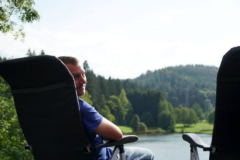 Pause am Marbach Stausee