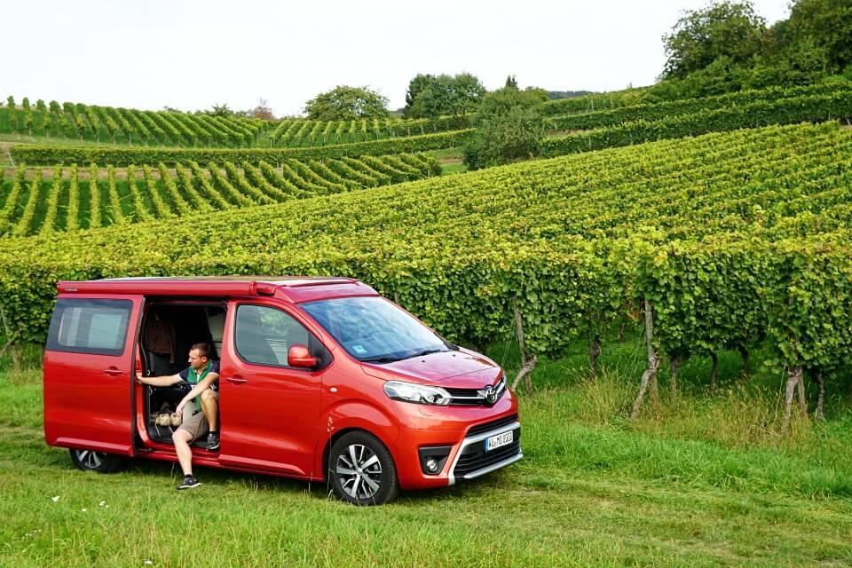 Mit dem Toyota Camper durch den Odenwald