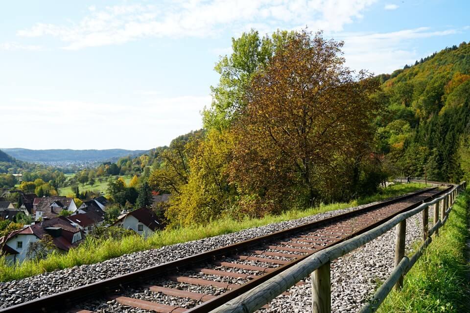 Bahnstrecke der Schwaebischen Waldbahn von Schorndorf nach Welzheim