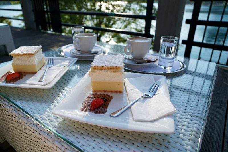 Cremeschnitte in Bled