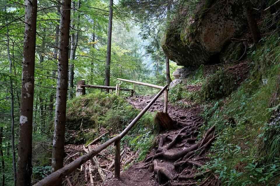 Weg zum Pericnik Wasserfall im Vrata-Tal